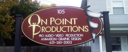 Onpoint productions greenlawn sign board